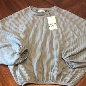 Zara Ribbed Sweater/sweatshirt